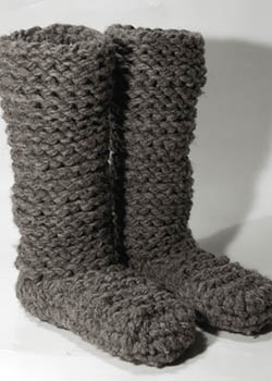 botuflas knitted wool boots slippers