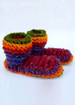 pantuflas knitted wool slippers